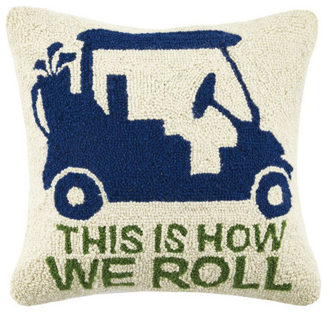 This Is How We Roll Golf Cart Hook Pillow Contemporary Custom Decorative Roll Pillows