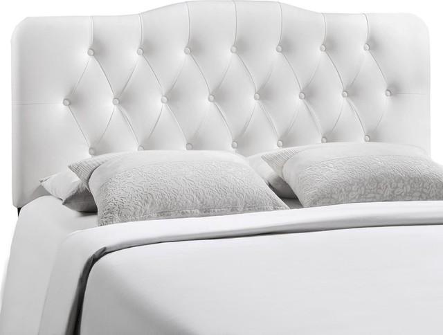 Modway Furniture Annabel Full Vinyl Headboard, White.
