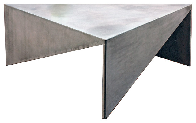 concrete triangle, coffee table - contemporary - coffee tables