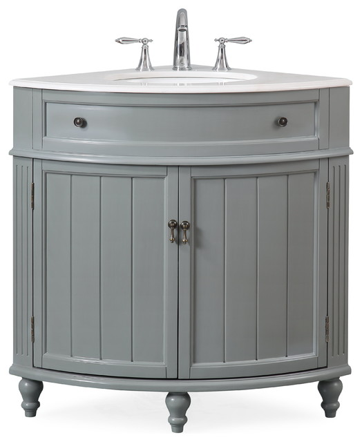 24 Thomasville Gray Corner Bathroom Vanity Traditional Bathroom Vanities And Sink Consoles By Chans Furniture Houzz