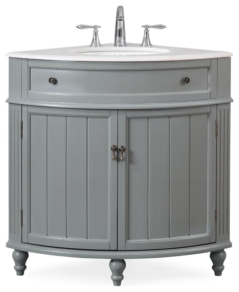 24 Thomasville Gray Corner Bathroom Vanity