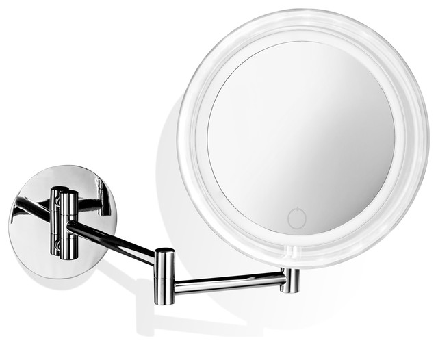 Smile 717t Hard-Wired Wall Mounted 5x Magnifying Mirror With Dimmable Led Light.