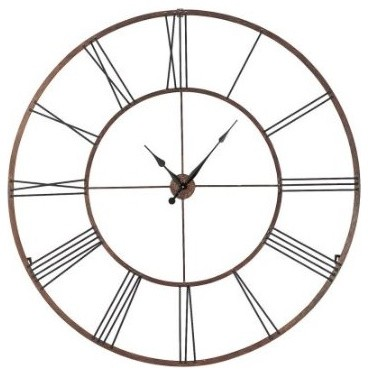 Roman numeral design wall clock extra large traditional Extra large clocks walls