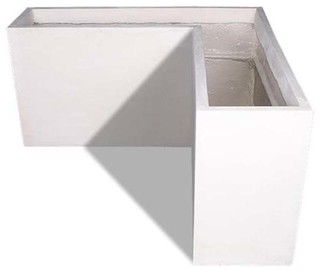 Corner Modular Planter - Contemporary - Outdoor Pots And Planters - by Amedeo Design, LLC