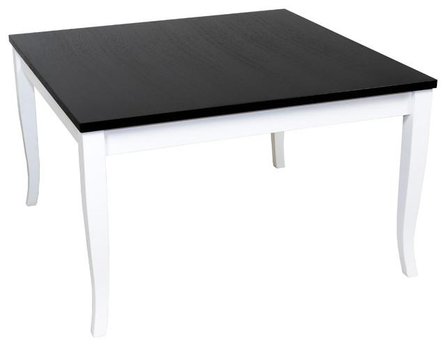 Finezja Coffee Table Black Top White Legs Contemporary Coffee