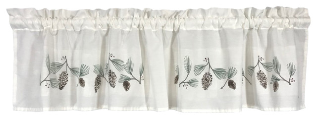 Laural Home Pastel Poppies Sheer Window Curtain, 84""