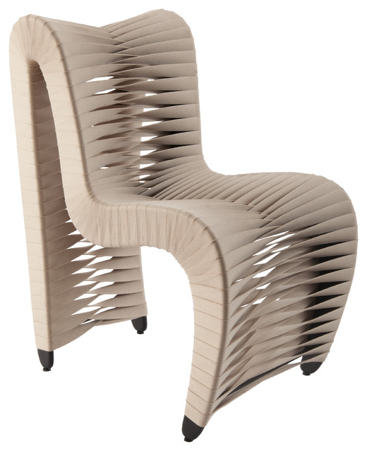 Perfect Seat Belt Dining Chair, Beige