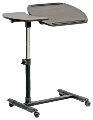 Olsen Brown Wheeled Laptop Tray Table With Tilt Control.