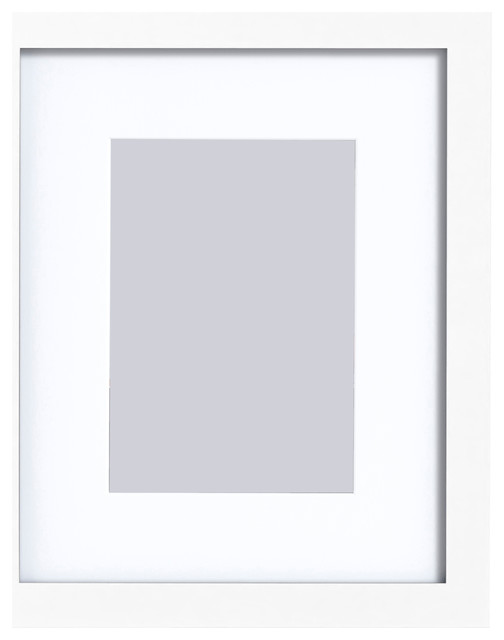 Matted Gallery Expressions Styrene Frame, White, 5\