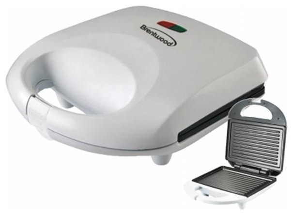 Brentwood Appliances Panini Maker Grill, White.