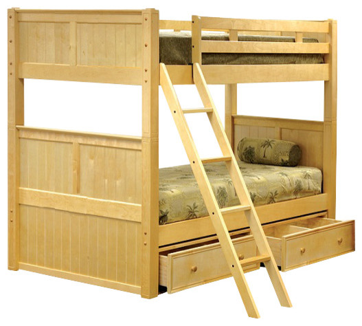 kimson full over full bunk bed with underbed storage drawers traditional bunk beds by. Black Bedroom Furniture Sets. Home Design Ideas