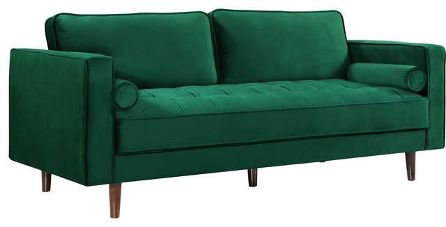 Fine Emily Green Velvet Sofa Machost Co Dining Chair Design Ideas Machostcouk