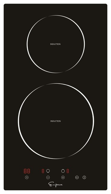 """Empava 12"""" 2 Burners, Tempered Glass, Electric Induction Cooktop"""