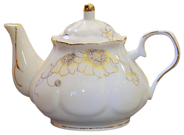Beautiful England Flower Design Tea Service Teapot Traditional Teapots By Blancho Bedding Houzz