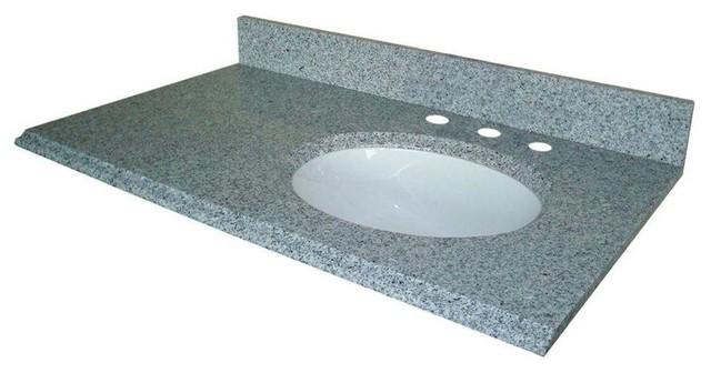 Pegasus 37, . W Granite Vanity Top W/ Offset Right Bowl U0026 8,