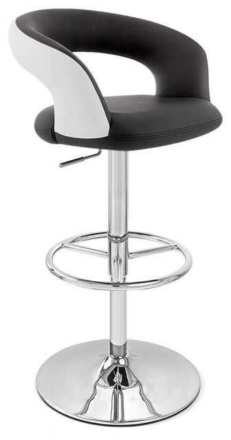 Monza Adjustable Height Swivel Armless Barstool