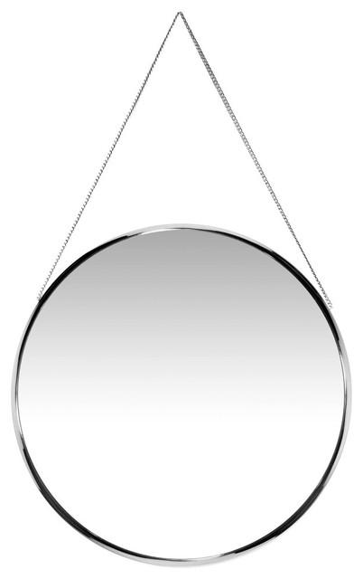 "Franc Decorative Wall Mirror, Chrome, 17"""