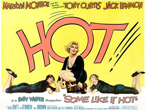 Some Like It Hot - 1959 - Movie Poster - Midcentury - Prints And ...