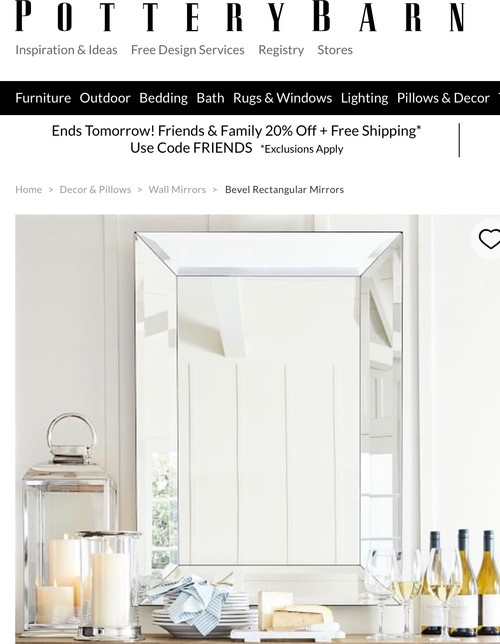Light Suggestions for Over Pottery Barn Bevel Mirror?
