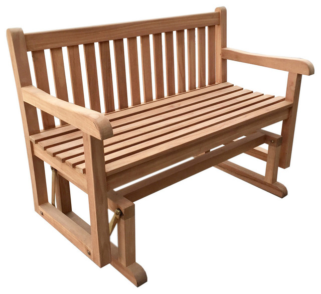 Teak Glider Bench Transitional Outdoor Gliders By D