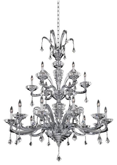 Allegri Cosimo 18-Light Modern Chandelier in Chrome