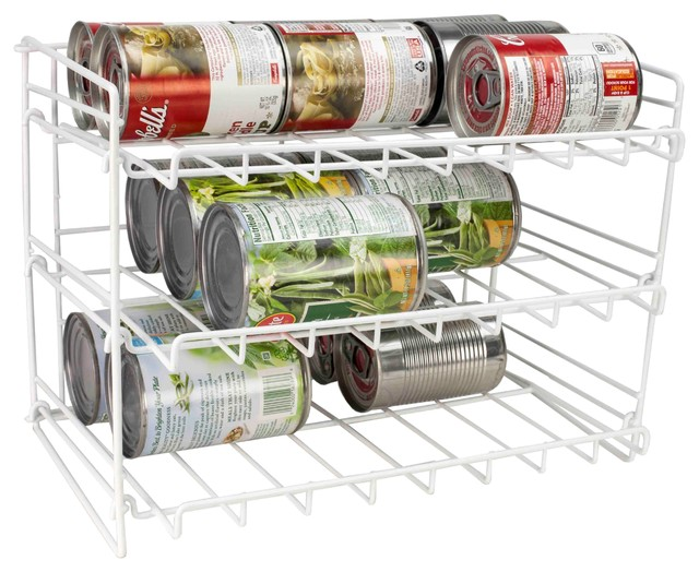 Home Basics 3-Tier Vinyl Can Dispenser - Contemporary - Pantry And Cabinet Organizers - by HOME ...