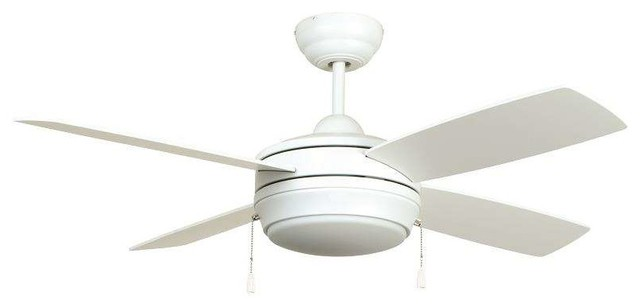 "Ellington Lav52mww4lk Laval 52"" Ceiling Fan, Matte White."