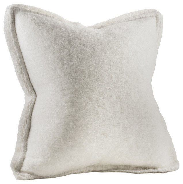 Chauran Karina Mohair Feather Pillow - Decorative Pillows Houzz