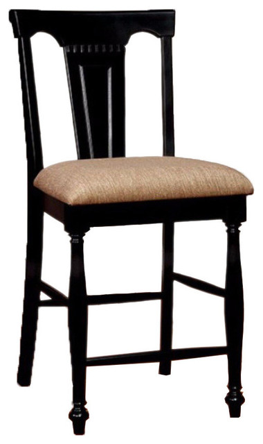Superb Sabrina Bm131206 Cottage Counter Height Chairs Set Of 2 Black Dailytribune Chair Design For Home Dailytribuneorg