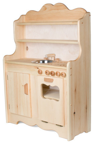 sylvie's tall wooden play kitchen - traditional - kids toys and