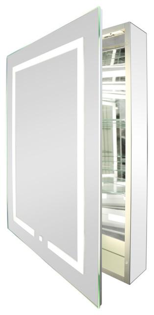 Kent LED Bathroom Cabinet, With Socket, 1-Door