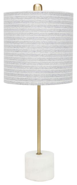 Lori Gold Stick Lamp With Marble Base.