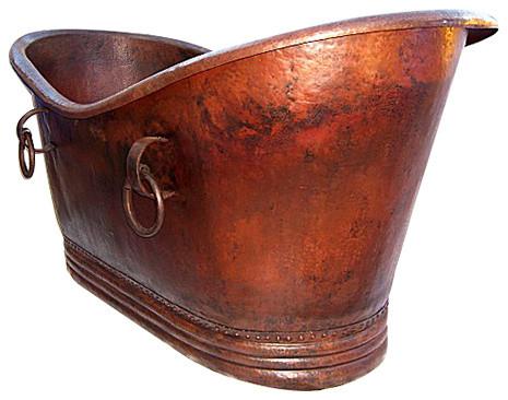 Victoria Hammered Copper Bathtub.
