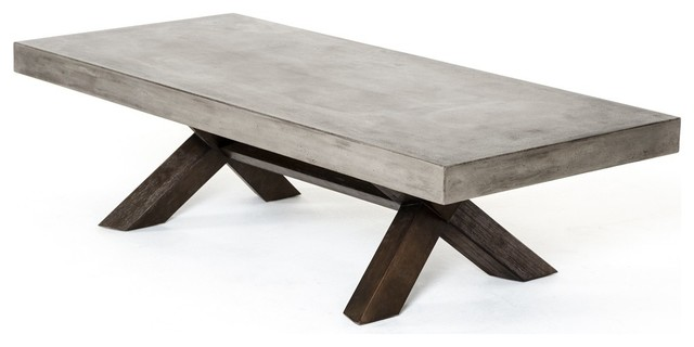 Modrest Urban Concrete Coffee Table Industrial Coffee Tables
