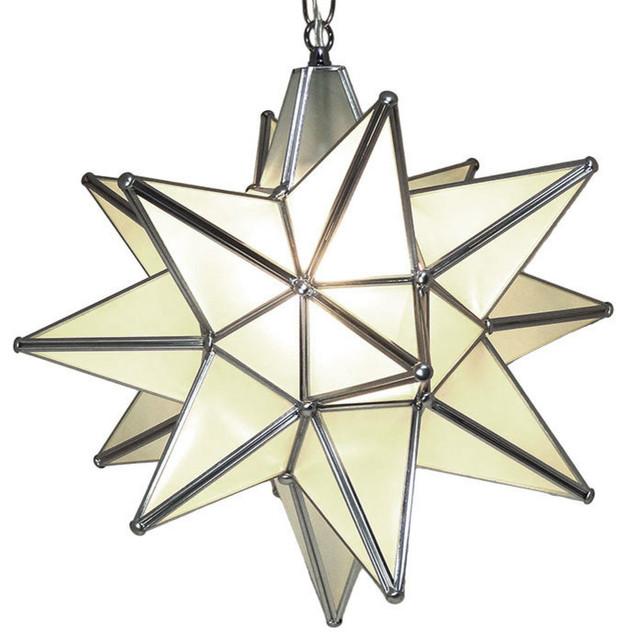 moravian star pendant light frosted glass silver frame 15 mediterranean pendant lighting. Black Bedroom Furniture Sets. Home Design Ideas