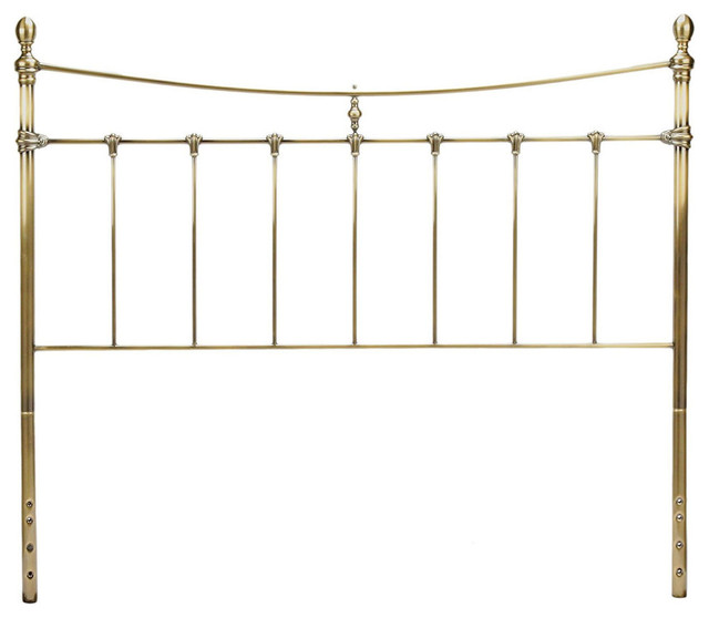 Fbg Leighton Metal Headboard, Antique Brass, Full, B32284.