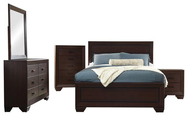 Coaster Fenbrook 5-Piece Queen Bedroom Set, Dark Cocoa Finish