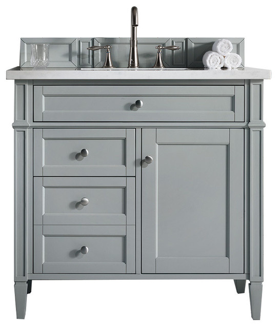 """Brittany 36"""" Urban Gray Single Cabinet, Top Not Included."""