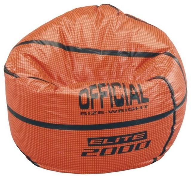 Elite Products Sports Theme Vinyl Bean Bag Basketball