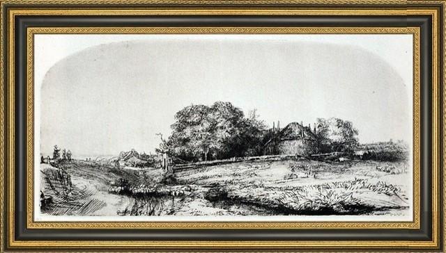 """Famous Rembrandt Landscape   PICTURE CANVAS WALL ART 20/""""X30/"""""""
