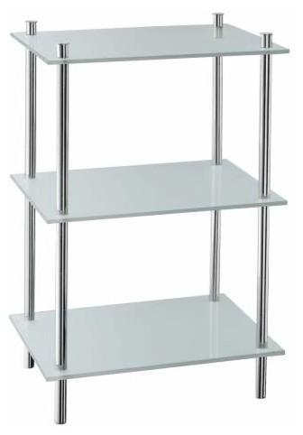 Smedbo 3 Shelves, Free Standing Polished Chrome ...