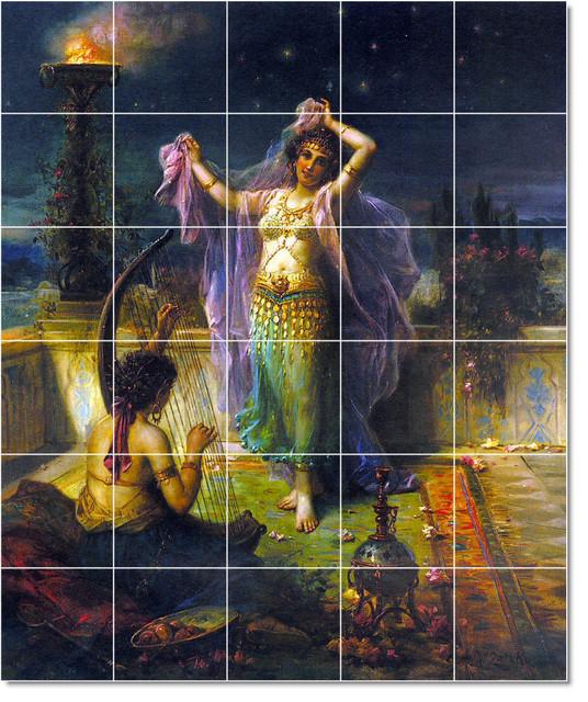 Hans Zatzka Mythology Painting Ceramic Tile Mural 78