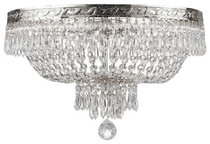 French empire crystal flush ceiling chandelier 4 light traditional french empire crystal flush ceiling chandelier 4 light aloadofball Gallery