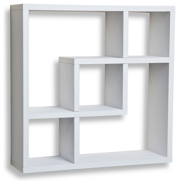 Shop Houzz Danya B Geometric Square Wall Shelf With 5