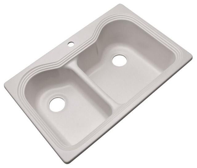 Breckenridge 1-Hole Kitchen Sink, Soft White
