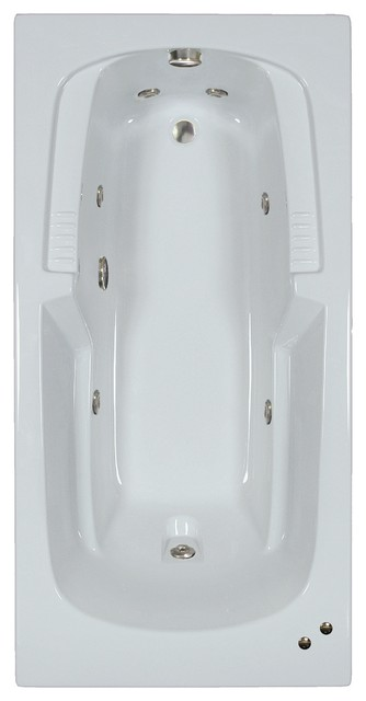72l X 36w Combination Baths Bw White Whirlpool Bath.