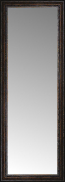 18 X48 Custom Framed Mirror Distressed Brown