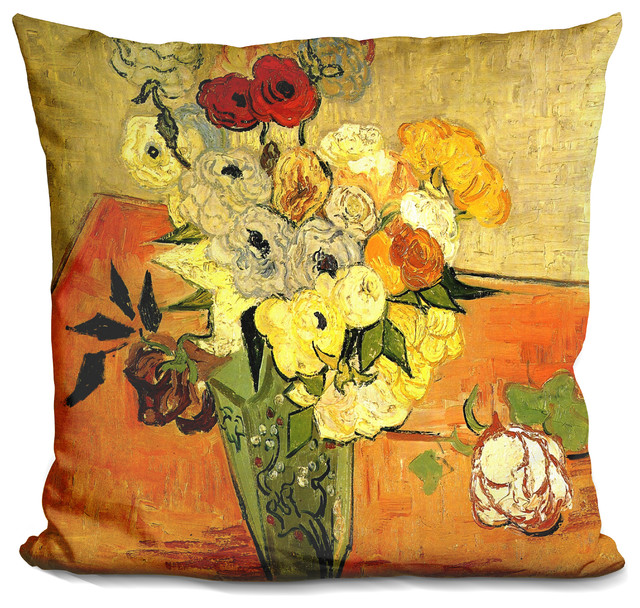LiLiPi Wild Rose Decorative Accent Throw Pillow