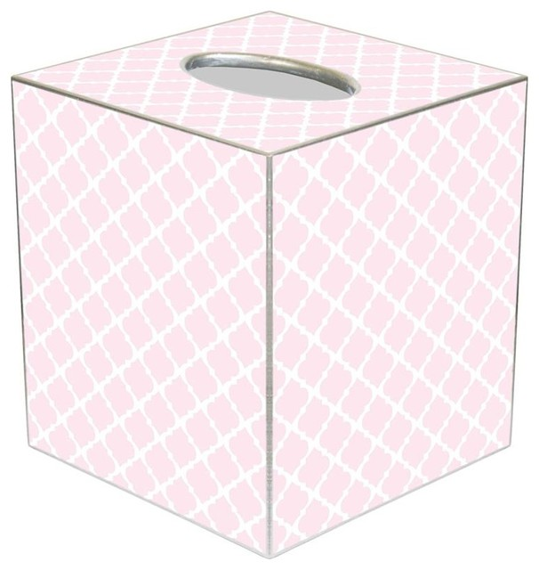 Tb2604 Chelsea Light Pink Tissue Box Cover