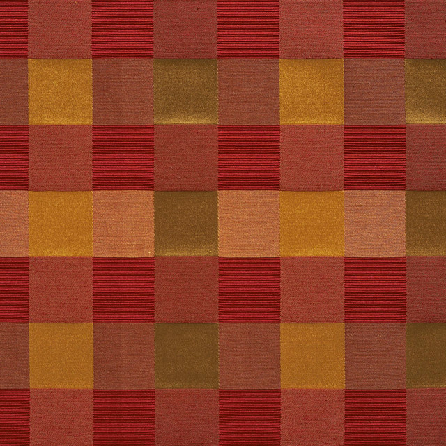 Red Peach And Green Large 4 Color Check Faux Silk  : traditional upholstery fabric from www.houzz.com size 640 x 640 jpeg 171kB